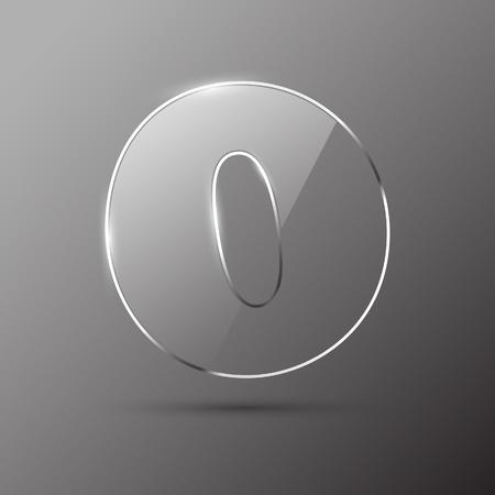 Glass digit . Vector illustration. Stock Vector - 10399703