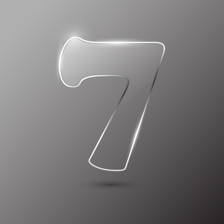 Glass digit . Vector illustration. Stock Vector - 10399689
