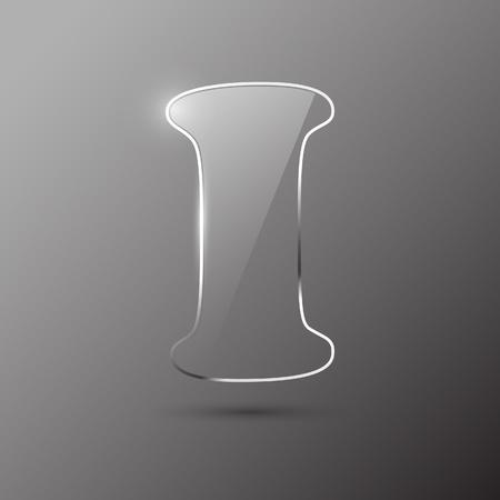 Glass letter I. Vector illustration. Stock Vector - 10399688