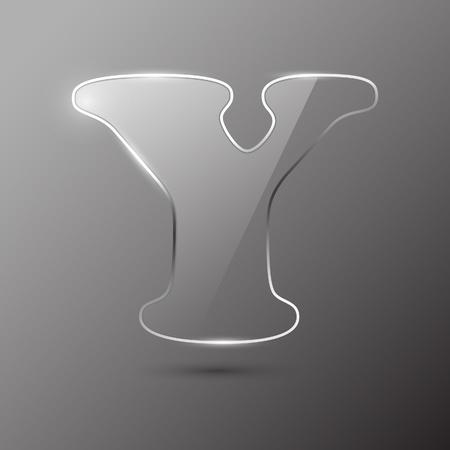 Glass letter Y. Vector illustration. Stock Vector - 10399701