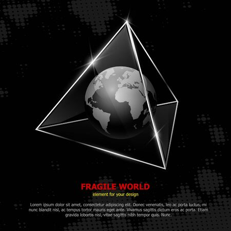 specular: Fragile world. Vector abstract concept.