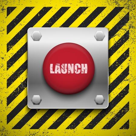 ボタンを起動します。ベクトルの背景。Eps10