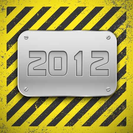 Metallic plaque  Stock Vector - 10771452
