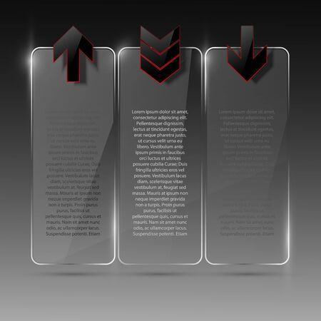 Glass billboard. Illustration