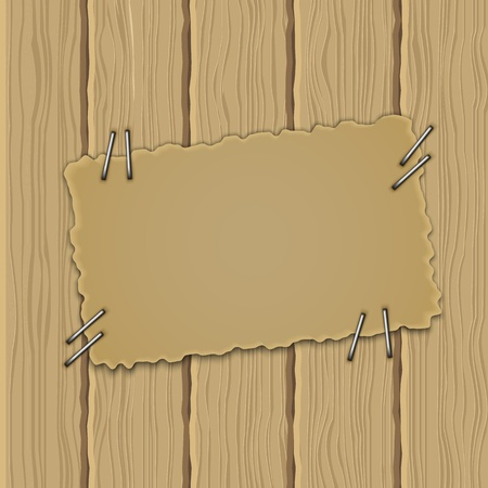 message pad: Abstract background with wooden board Illustration