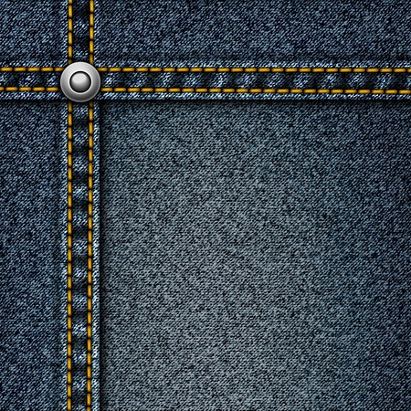 denim jeans: Fondo de mezclilla realista. Vectores