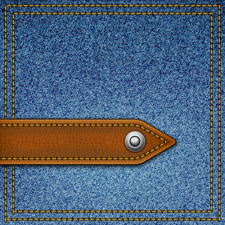 leather pants: Realistic vector denim background.