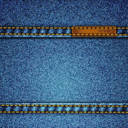 デニムの現実的なベクトルの背景。
