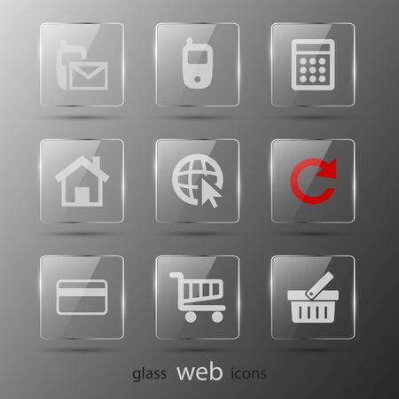 Set of web icons. Vector illustration. Eps 10 Vector