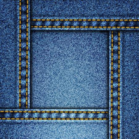 denim background: Realistic vector denim background.