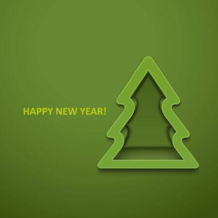 fir trees: Christmas fur-tree. Vector illustration. Illustration