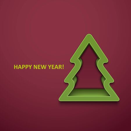 emitter: Christmas fur-tree. Vector illustration. Illustration