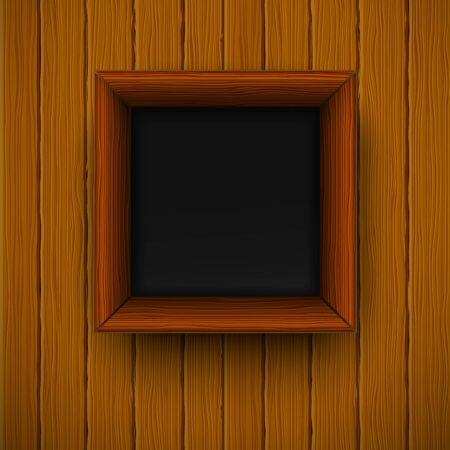 Houten raamwerk. Vector illustratie Vector Illustratie
