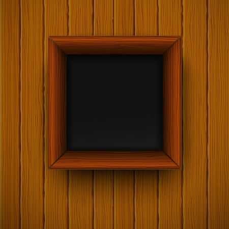 old wooden door: Wooden framework. Vector illustration