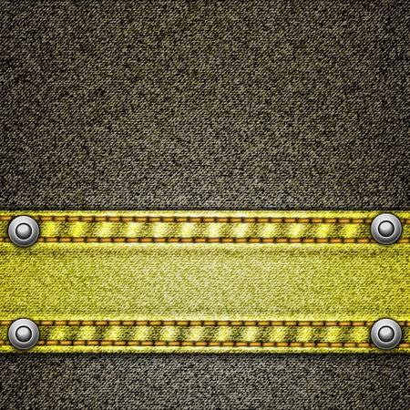 ふだん着: デニムの現実的なベクトルの背景  イラスト・ベクター素材
