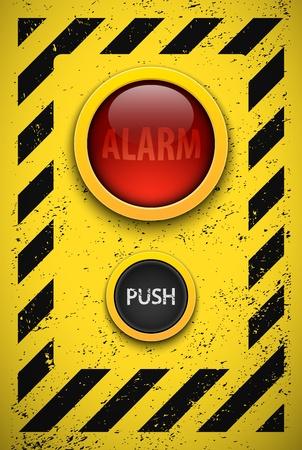 Alarm bulb  Realistic vector illustration  Eps10
