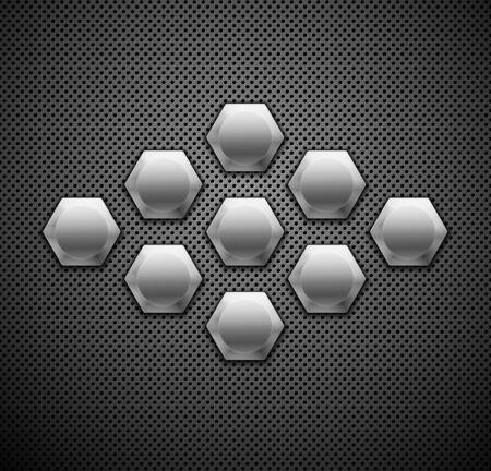 structure metal: Abstract metallic background  Vector illustration  Illustration