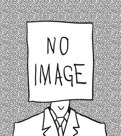 sconosciuto: senza immagine del profilo. disegnato a mano.