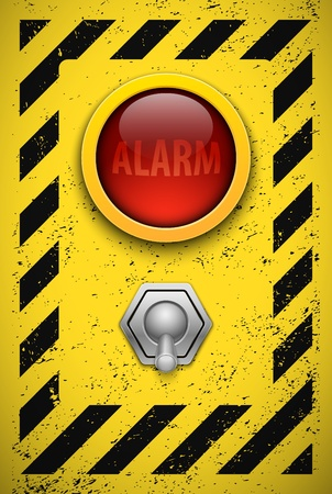 Alarm bulb  Realistic vector illustration