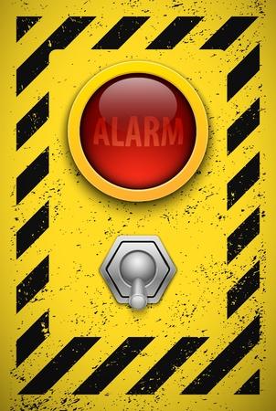 lampe: Alarm bulb  Realistic vector illustration