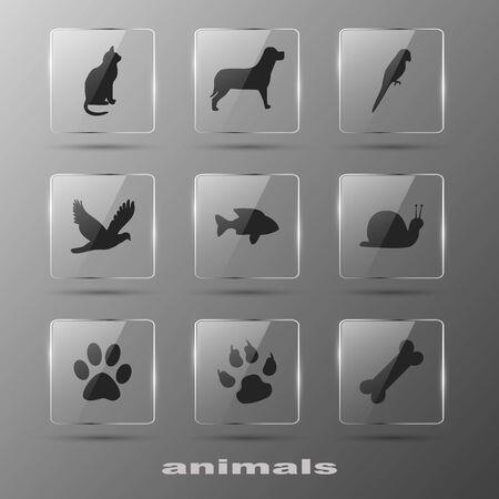Creative Elements - Animal  Icons Vector