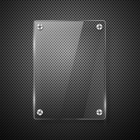 structure metal:  Metallic background with glass framework illustration  Illustration