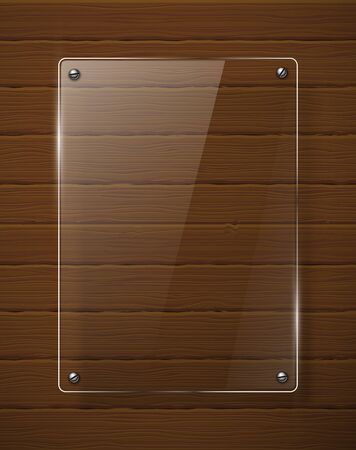 Wooden texture with glass framework illustration Stock Vector - 13783626