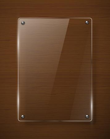 木製のテクスチャ ガラス フレームワーク イラスト  イラスト・ベクター素材
