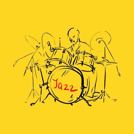 cymbol: Sketch  Drummer  illustration   Illustration