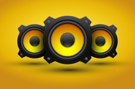 Party design element with speakers illustration Vector