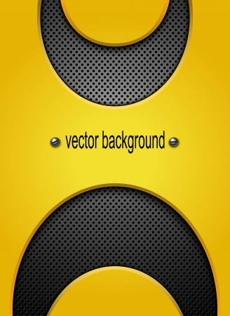 Abstract metal background illustration  Vector