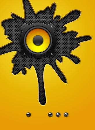 rap: Party design element with speaker