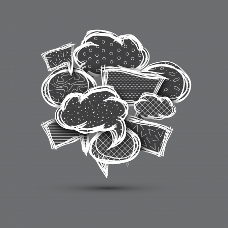 Big speech bubble made from small bubbles  Eps10 Vector