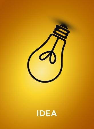 電球の図と抽象的な背景  イラスト・ベクター素材