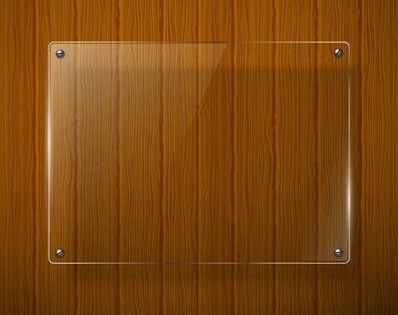glass door: Wooden texture with glass framework illustration  Illustration