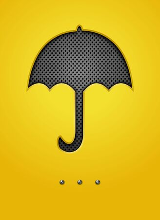 individuality: Abstract background with umbrella.