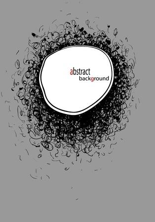 garabatos: Fondo abstracto dibujado a mano ilustración vectorial Vectores