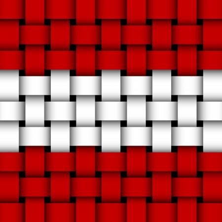 austrian flag: austrian flag  wicker Illustration