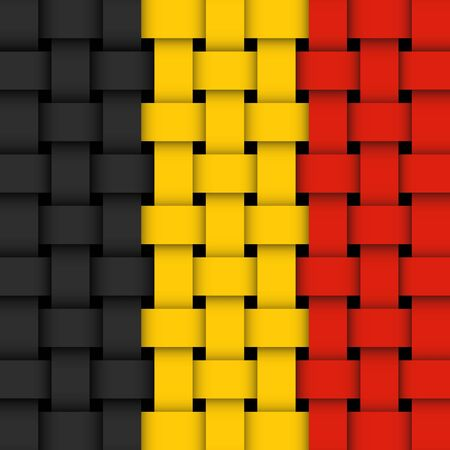 belgian flag  wicker Stock Vector - 17444151