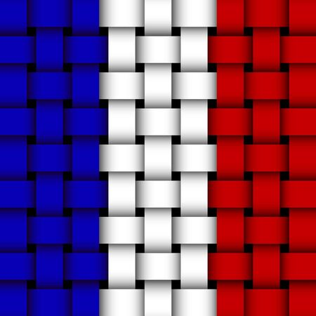 french flag  wicker Stock Vector - 17444152