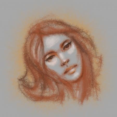 Girl  Hand drawn sketch illustration Stock Vector - 17502575