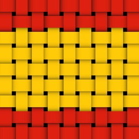 spain flag: spanish flag  vector wicker