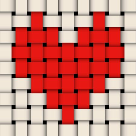 wicker with heart Stock Vector - 17444153
