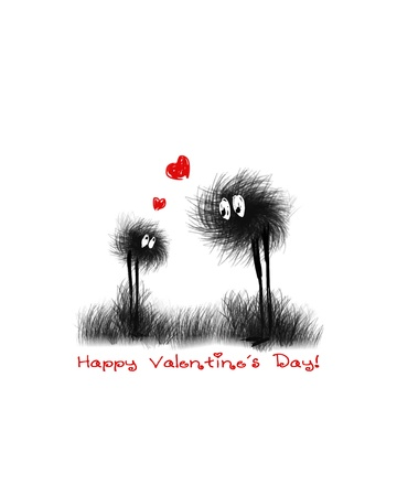 Valentine card  Vector illustration Stock Vector - 17502555