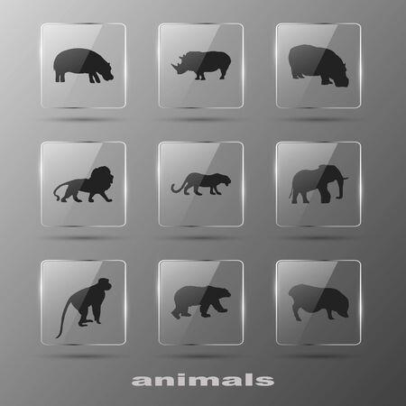 Creative Elements - Animal  Icons set  Eps10  Vector