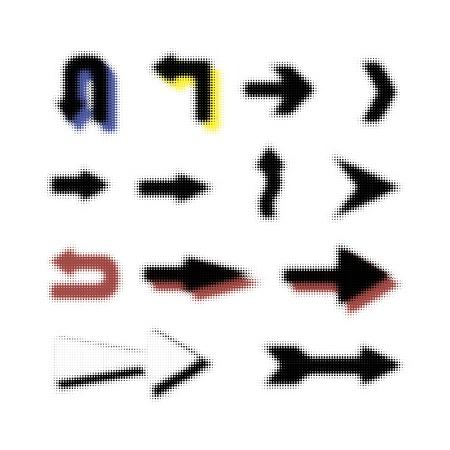 orientation marker: Arrows set  Element for your design