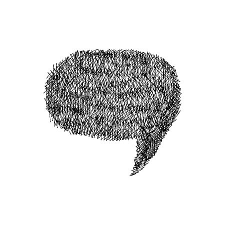Speech bubble  Hand-drawn  Vector illustration  Vector
