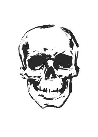roger: Skull  Hand drawn  Vector