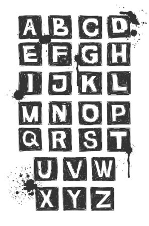 Hand drawn alphabet  Vector element for your design  Eps8 Stock Photo - 18313153