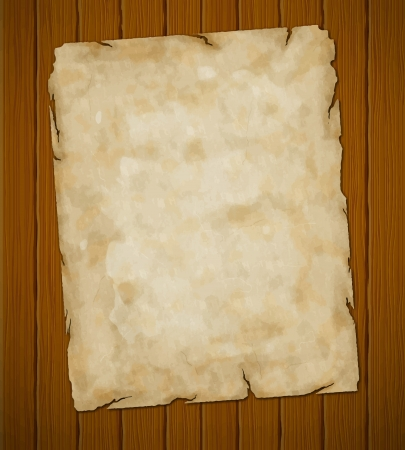 wanted poster: Old torn paper  grunge background  object-group  Illustration